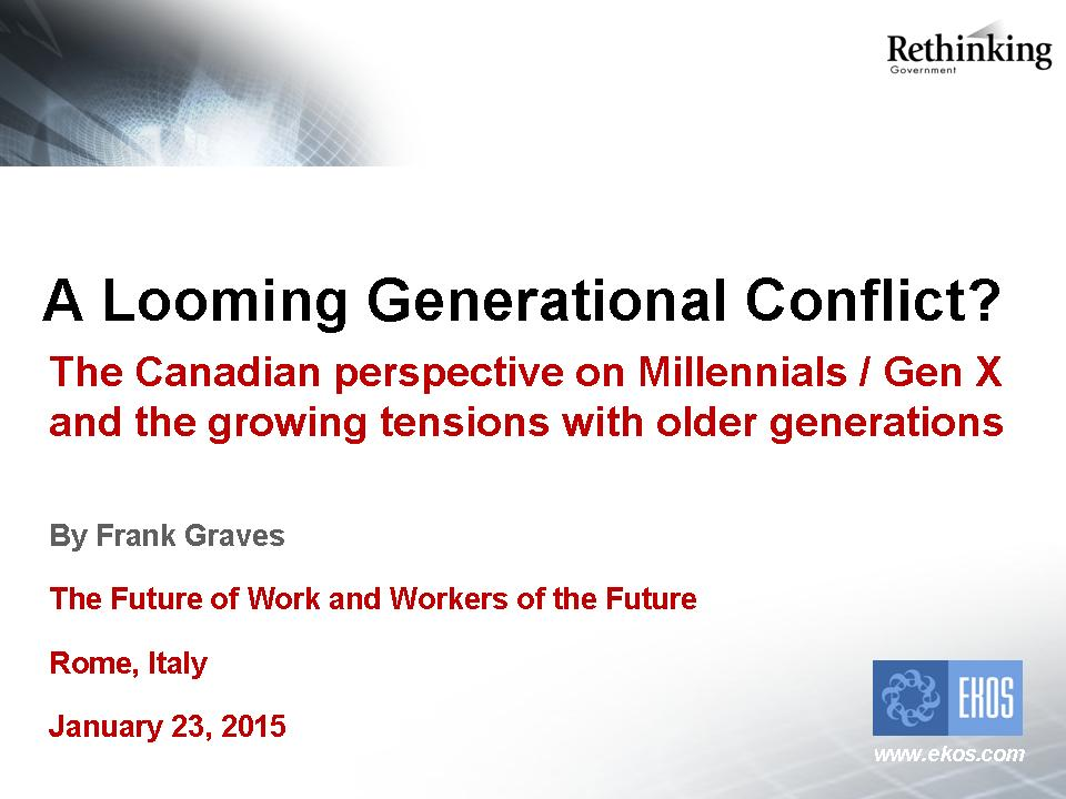 generational conflicts presentation They will learn how to eliminate generational conflict within the workplace and create our managing a multi-generational workforce training seminar is.